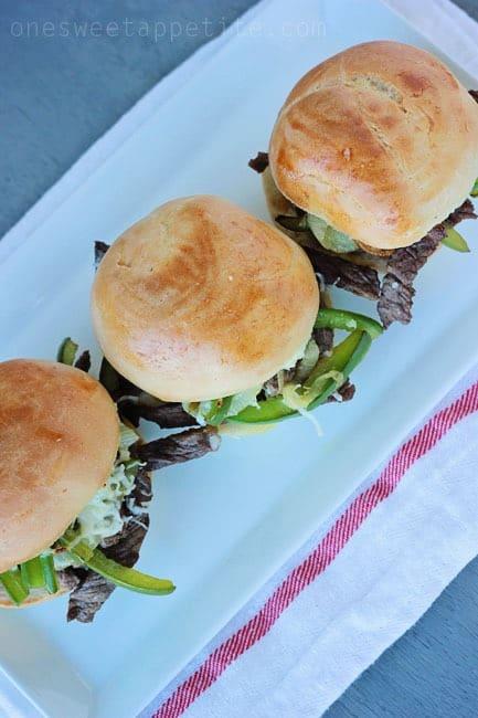philly cheesesteak sliders easy recipe
