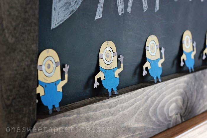 Minion party cut outs