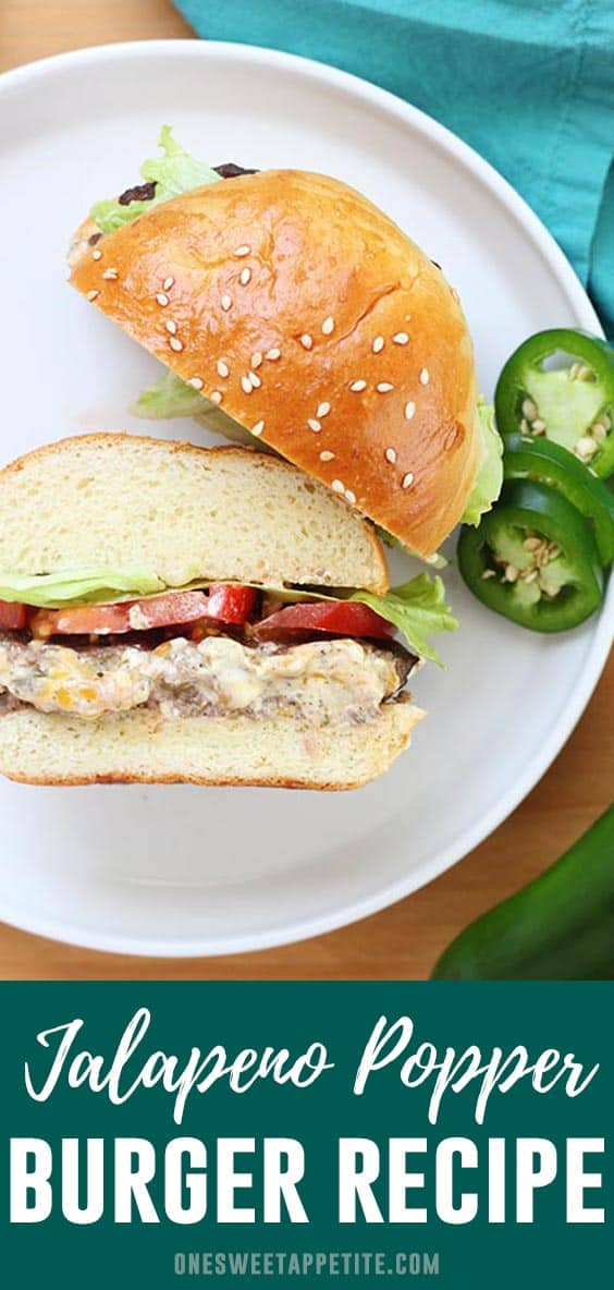 Jalapeno Popper Burgers- These burgers are stuffed with cream cheese, seasoning, and pickled jalapenos. Grilled, baked, or air fried- This is the BEST burger recipe!