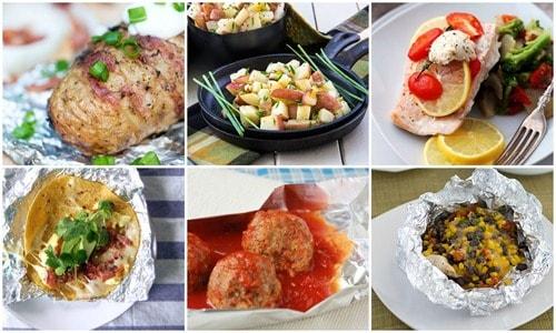 camping tin foil meals