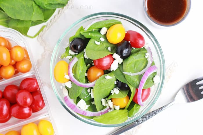 Simple balsamic vinaigrette salad