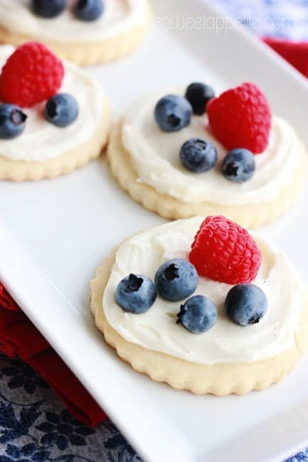 4th of july fruit pizza cookie recipe