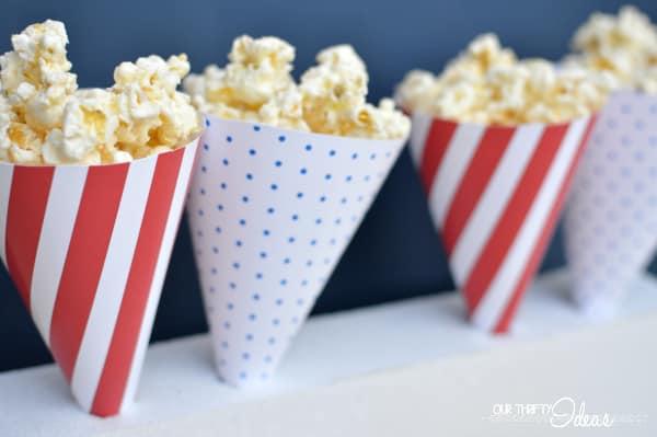Printable Popcorn Cones vertical