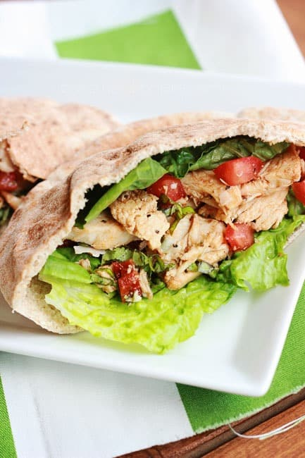 Italian chicken pita sandwich