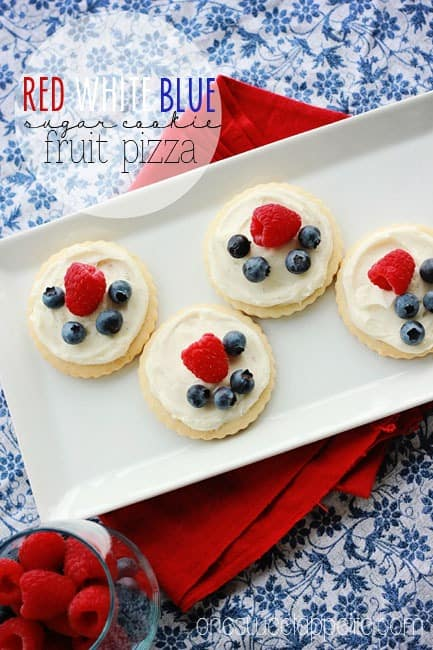 4th of july fruit pizza cookies red white and blue