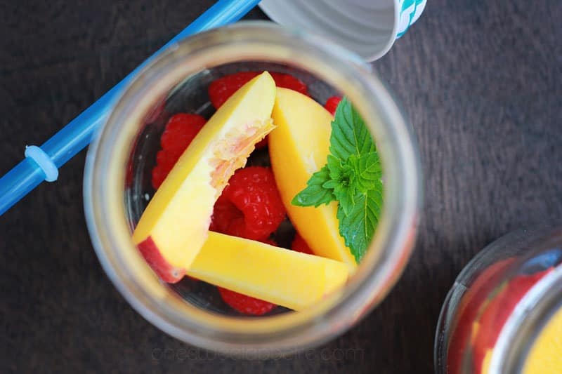 raspberry peach sangria fruit