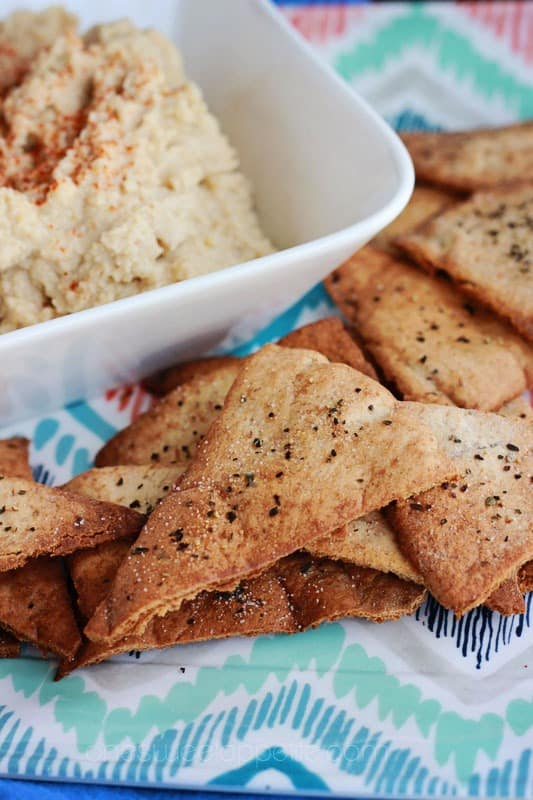 oven baked pita chips recipe