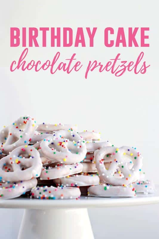 Birthday Cake Pretzels