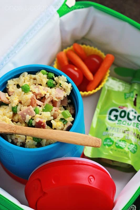 ham fried rice packed lunch