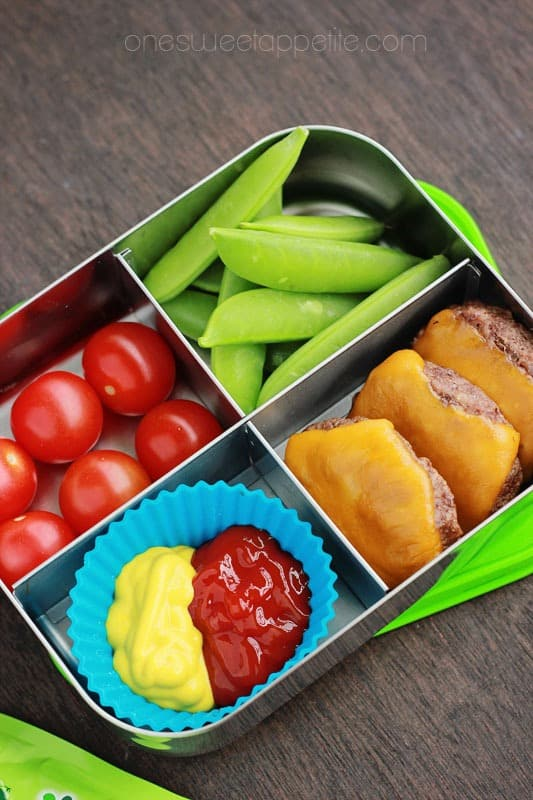 oven baked sliders packed lunch