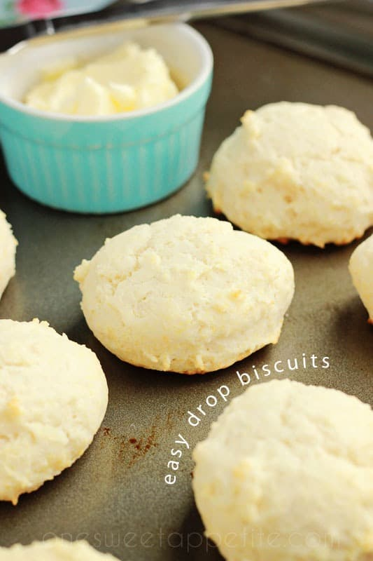 Easy Drop Biscuits made with olive oil