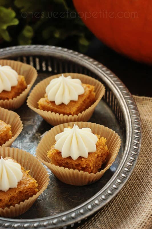 pumpkin bar with cream cheese frosting