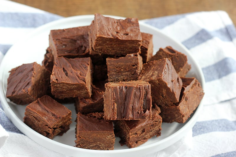 Quick and easy two ingredient fudge