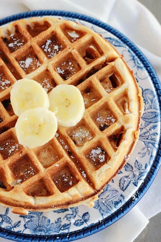 banana bread waffles breakfast