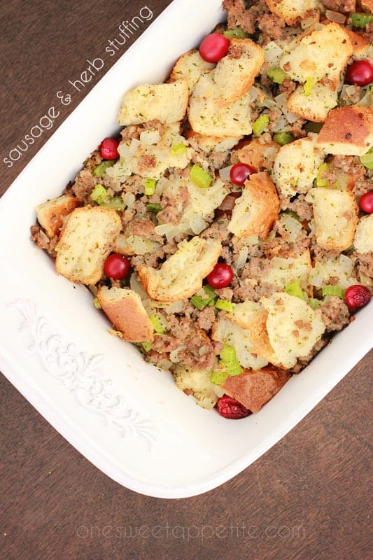 sausage and herb stuffing
