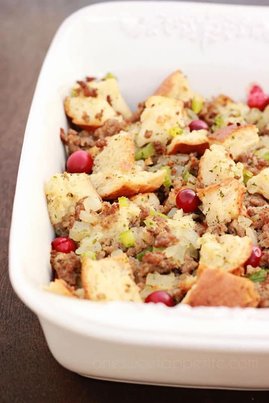 sausage and herb stuffing side dish