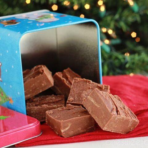 2 Ingredient Peanut Butter Chocolate Fudge