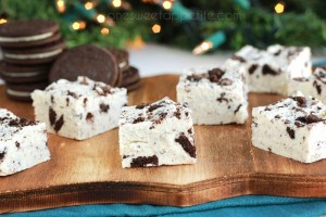 3 Ingredient Cookies and Cream Fudge