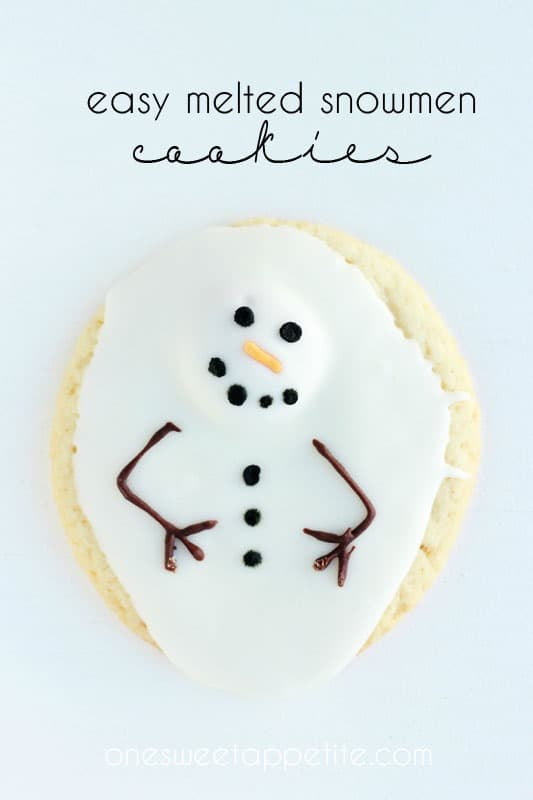 melted snowman cookies tutorial