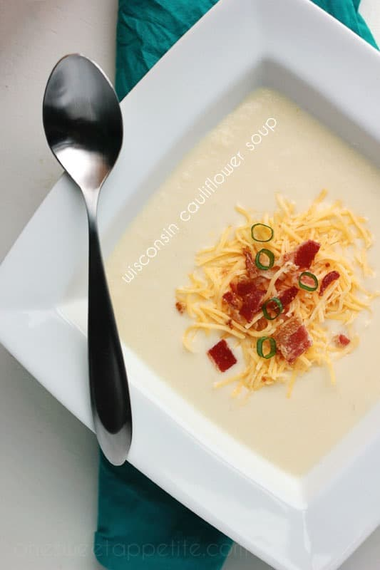 Wisconsin cauliflower soup recipe