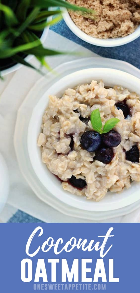 This easy coconut oatmeal recipe can be made stove top or overnight! Made with just 5 ingredients and packed with flavor, it is the perfect way to start your day.