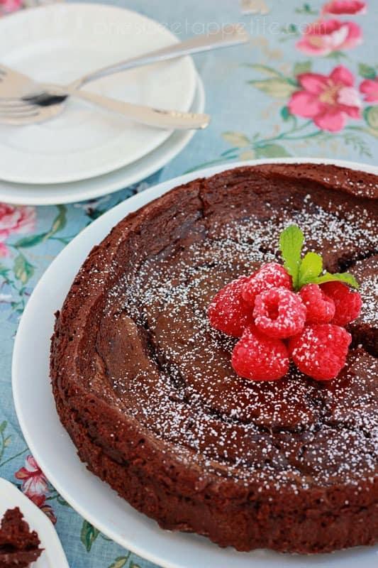 Flourless Chocolate Cake - One Sweet Appetite