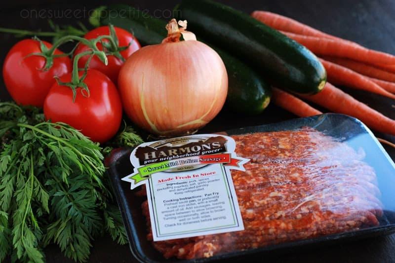 veggie packed pasta sauce ingredients