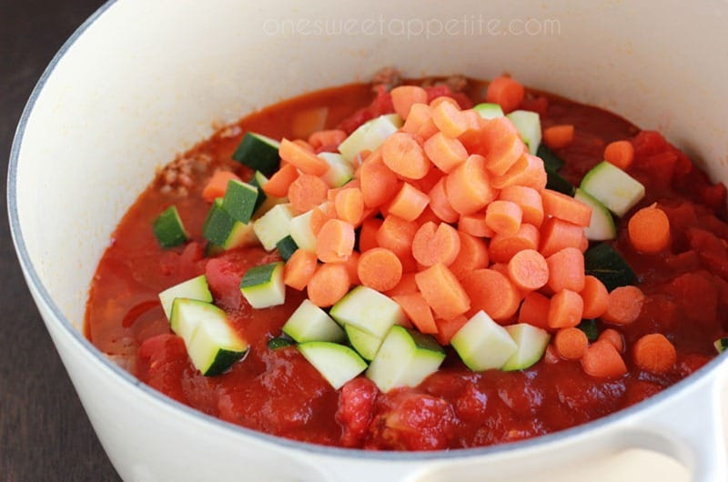 veggie packed pasta sauce veggies
