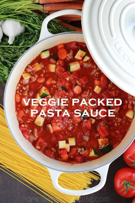 veggie packed pasta sauce