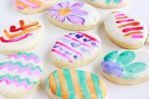 Easter Egg Water Colored Cookies