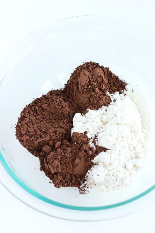 Guinness Brownies dry ingredients