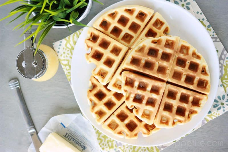 perfect belgian waffles breakfast