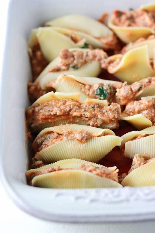 How to make Lasagna Stuffed Shells