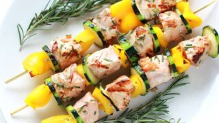Rosemary Salmon Kabobs