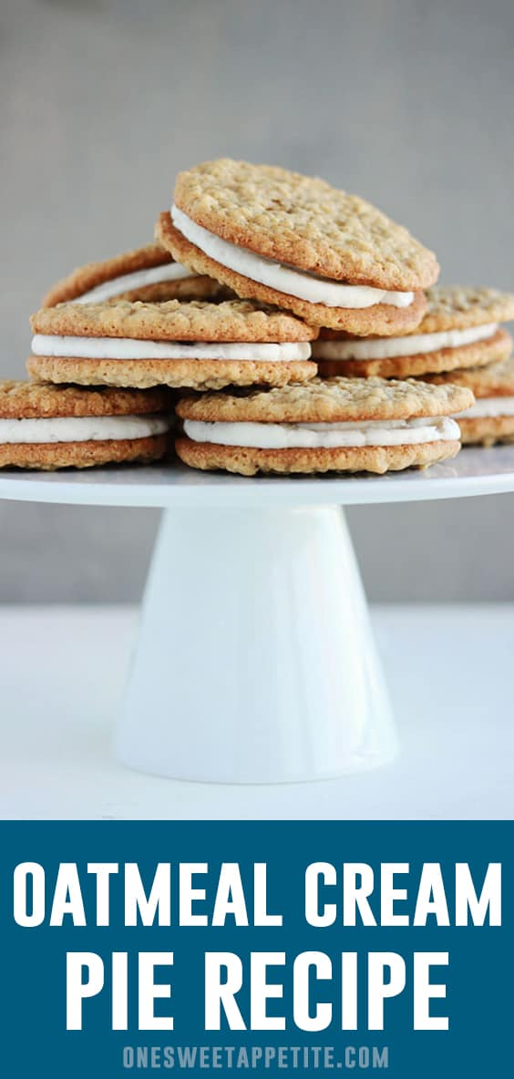 These homemade Oatmeal Cream pies are a classic sandwich cookie. Soft with a fluffy filling in the middle making these better than the original!