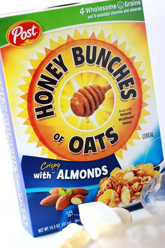 Cinnamon Crunch French Toast Sticks with Honey Bunches of Oats