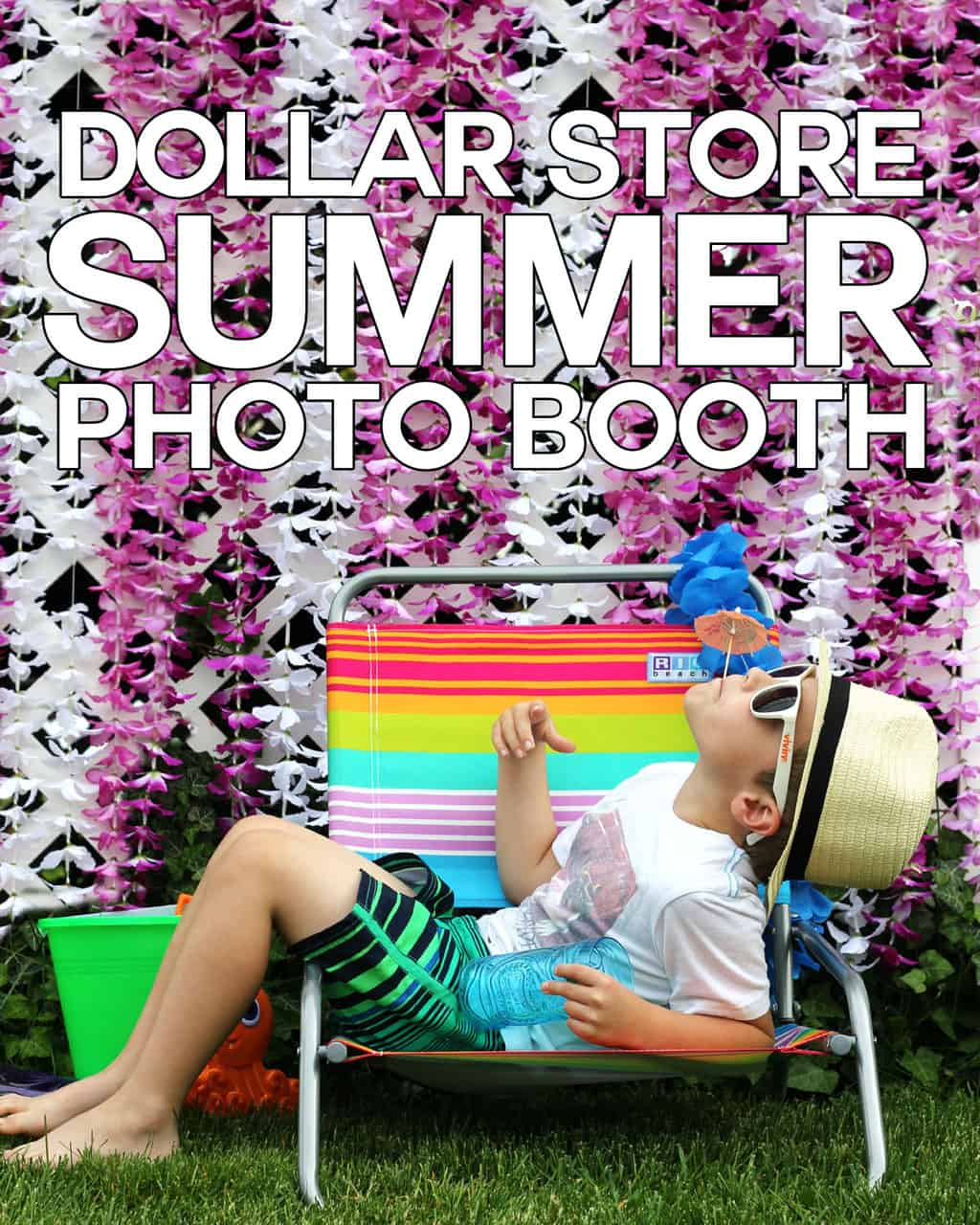 Dollar Store Summer Photo Booth