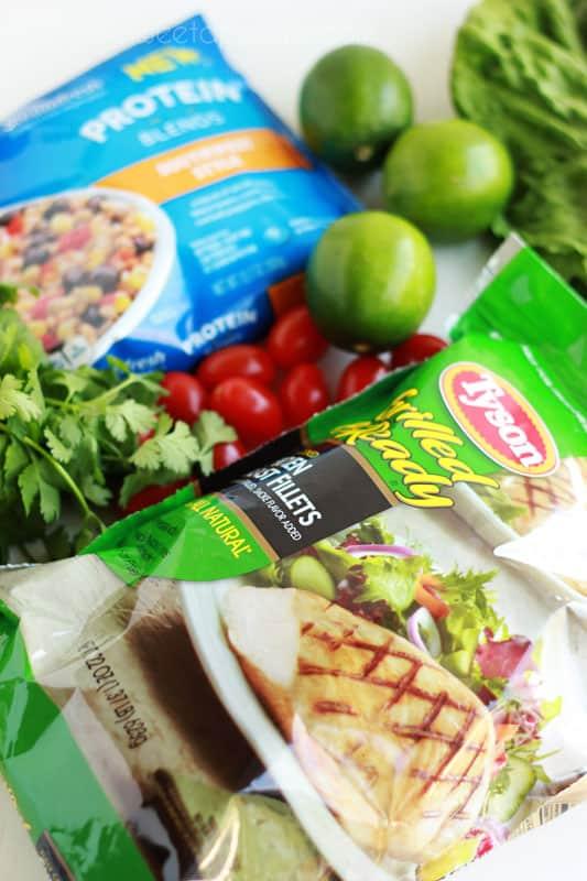 Southwestern Chicken Salad ingredients