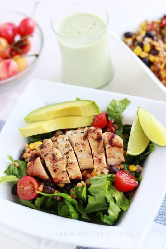 Southwestern Chicken Salad recipe on One Sweet Appetite