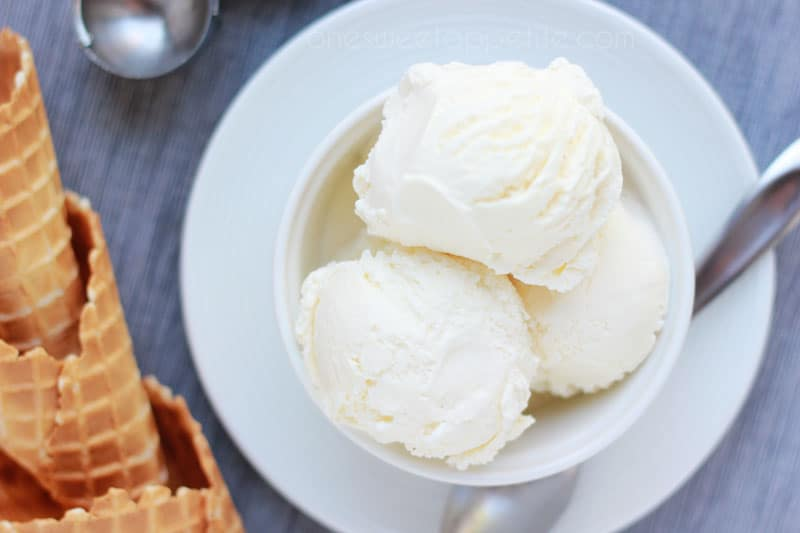 Vanilla Ice Cream Recipe from One Sweet Appetite