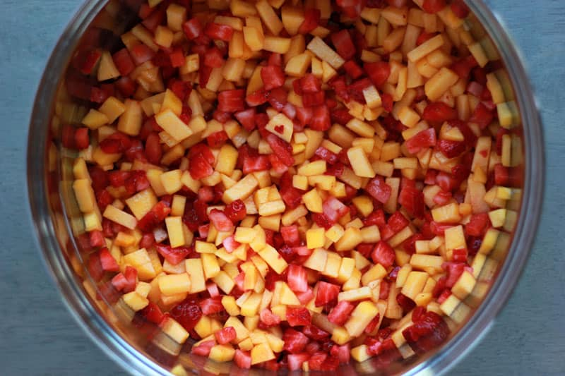 Strawberry Peach Jam Ingredients