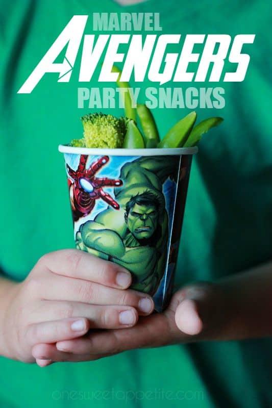 MARVEL Avengers Party Snacks