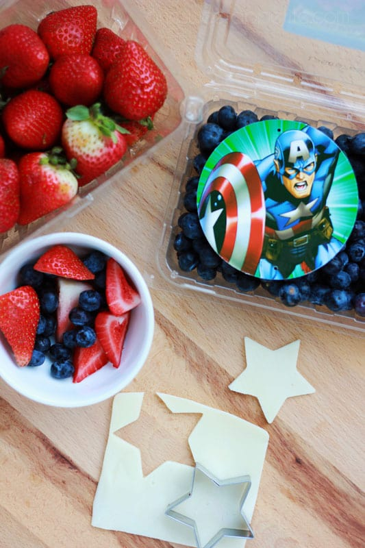 MARVEL captain america snack