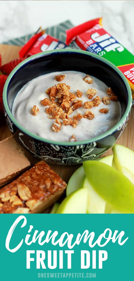 This simple cinnamon honey yogurt dip is perfect for fruit! Made with yogurt, cinnamon, and honey... It is the perfect sweet dip!
