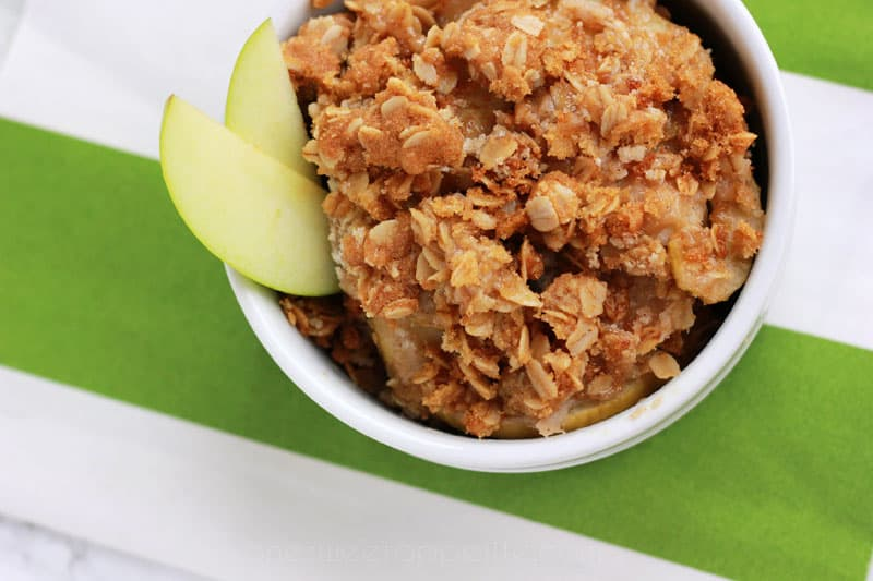 Easy Apple Crisp on One Sweet Appetite