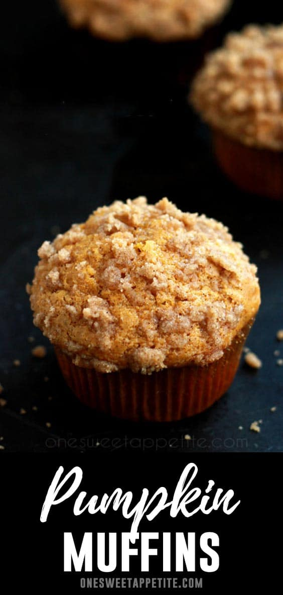 These Pumpkin Streusel Muffins are easy, full of pumpkin flavor, and the perfect fall treat. Made with real pumpkin puree and my favorite blend of spices!
