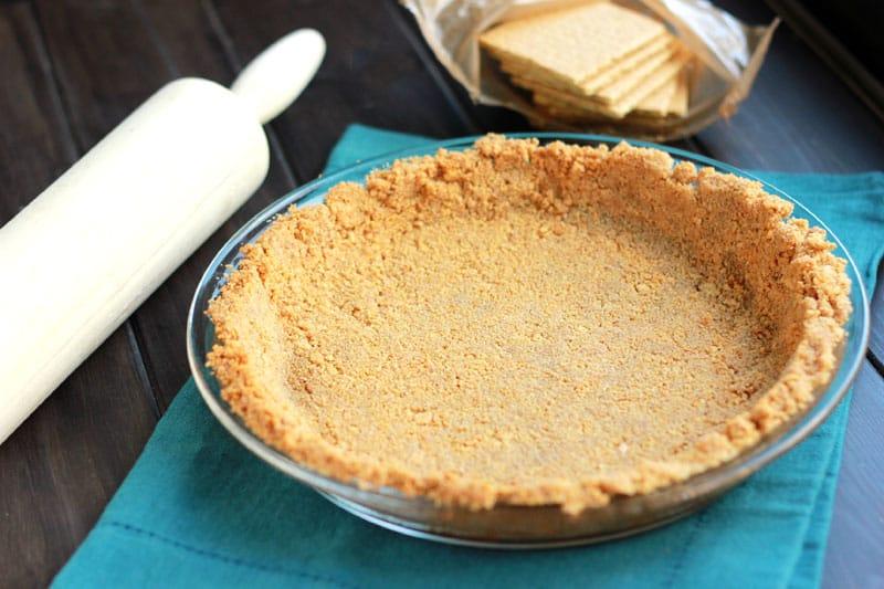 Graham pie crust in pie plate