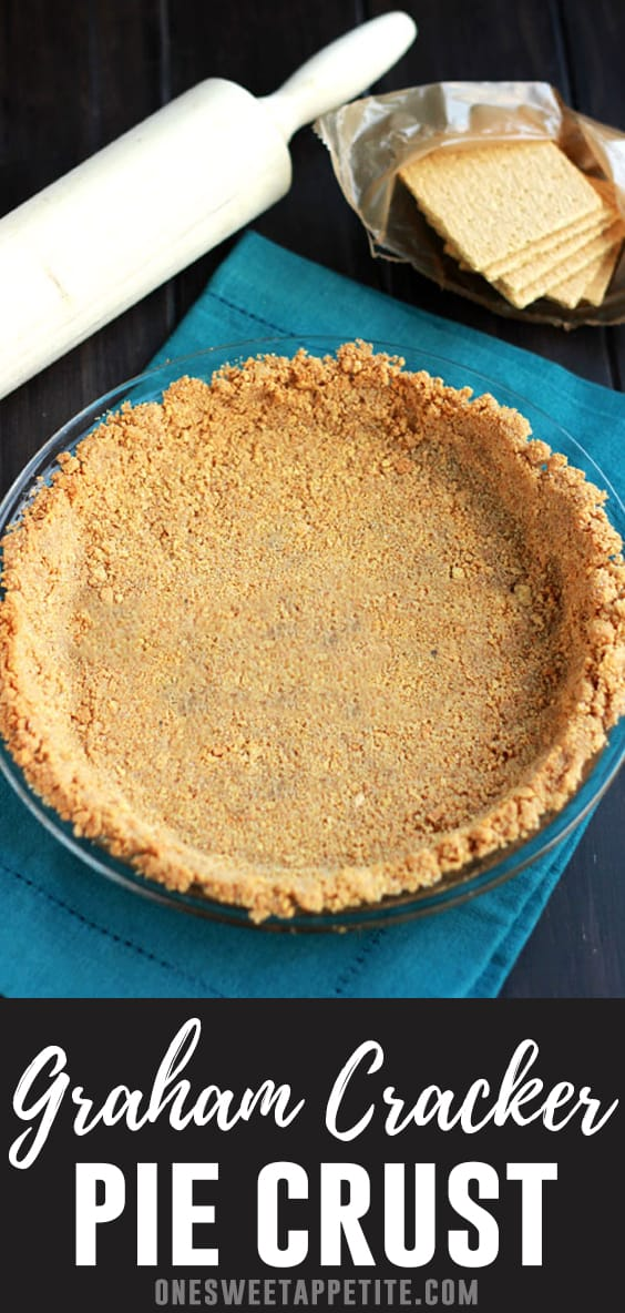 This easy graham cracker crust recipe is the perfect base for any pie. Easy ingredients and ready in under 20 minutes! A must have for any pie recipe.