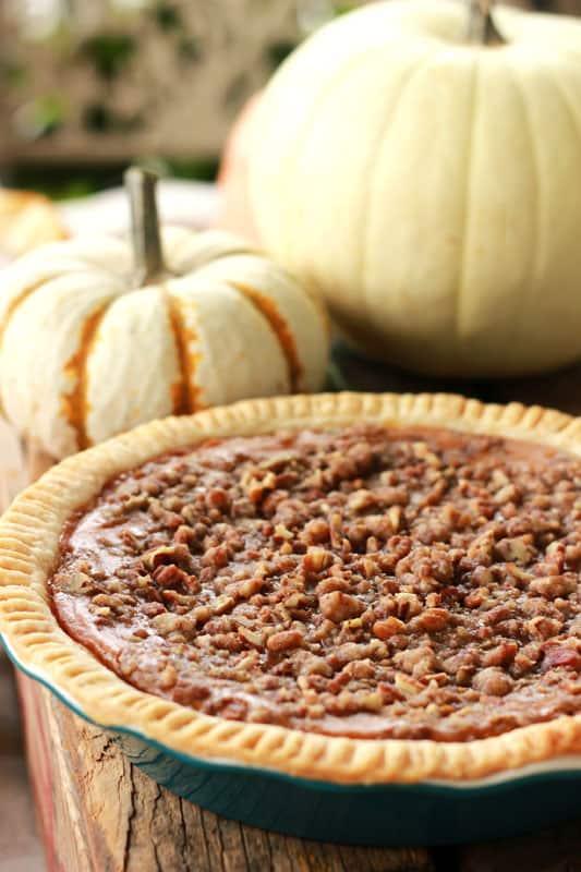 Streusel Pumpkin Pie on One Sweet Appetite