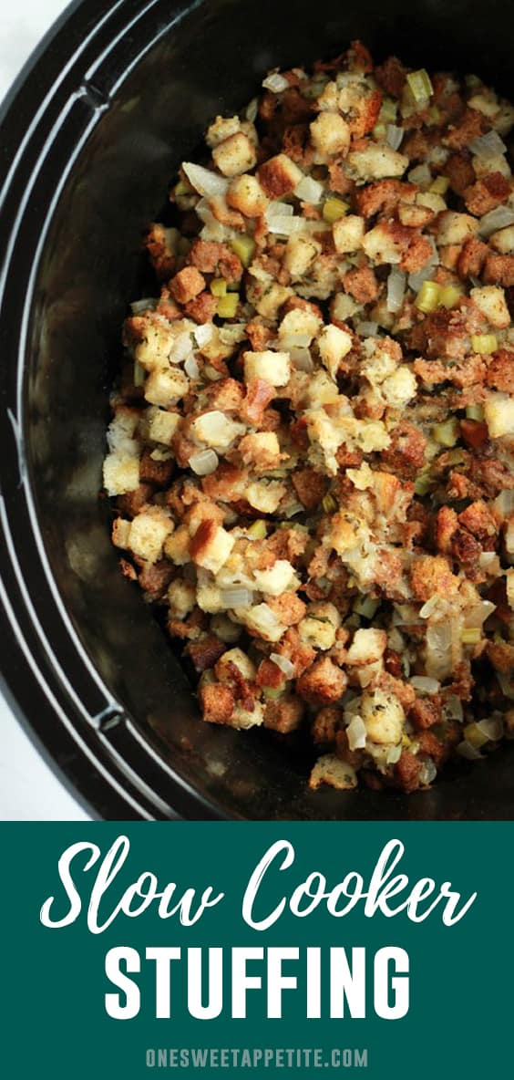 Slow Cooker Stuffing. This classic side dish recipe is as easy as stirring together your ingredients and letting this Thanksgiving side dish cook all on its own. Set it and forget it!